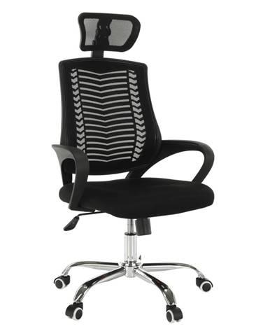Imela Typ 1 kancelárske kreslo s podrúčkami čierna