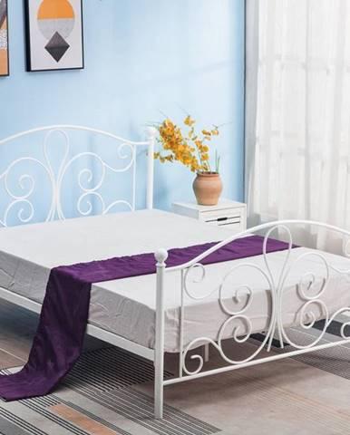 Panama 120 kovová jednolôžková posteľ s roštom biela