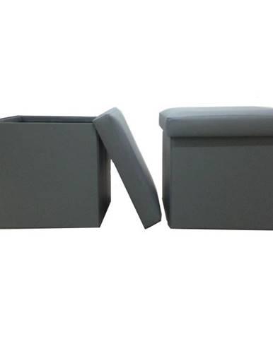 Tela New taburetka s úložným priestorom sivá