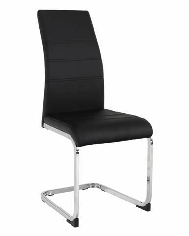 Vatena jedálenská stolička čierna