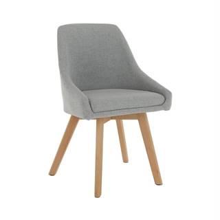 Teza jedálenská stolička sivá
