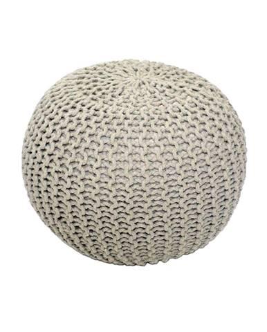 Gobi Typ 1 pletená taburetka krémová