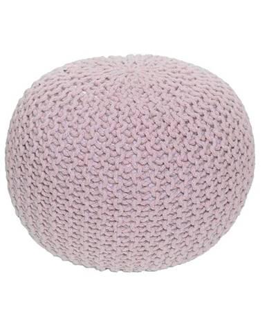 Gobi Typ 1 pletená taburetka púdrová ružová