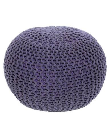 Gobi Typ 2 pletená taburetka fialová