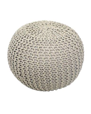 Gobi Typ 2 pletená taburetka krémová