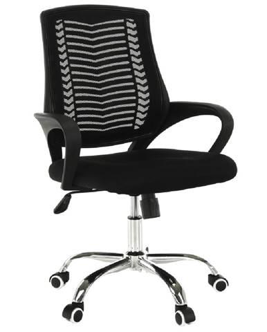 Imela Typ 2 kancelárske kreslo s podrúčkami čierna