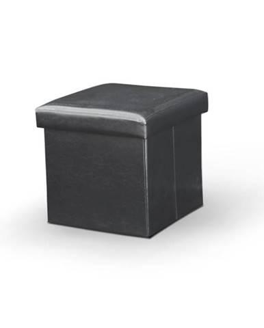 Tela New taburetka s úložným priestorom čierna