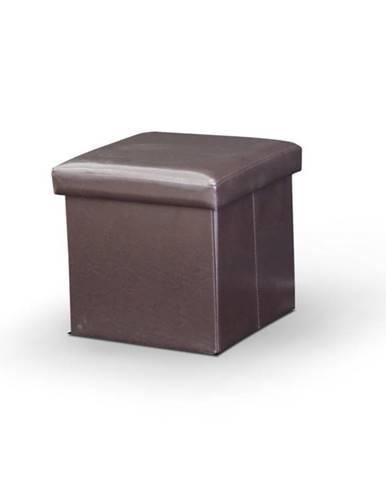 Tela New taburetka s úložným priestorom tmavohnedá