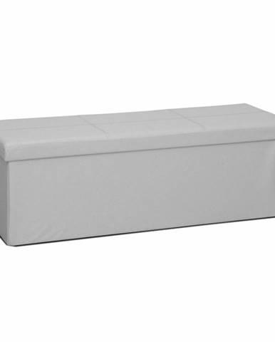 Zamira skladacia taburetka s úložným priestorom biela