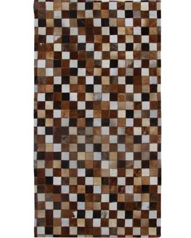 Typ 3 kožený koberec 168x240 cm vzor patchwork
