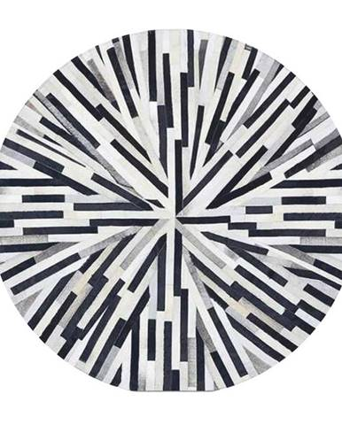 Typ 8 kožený koberec 200x200 cm vzor patchwork