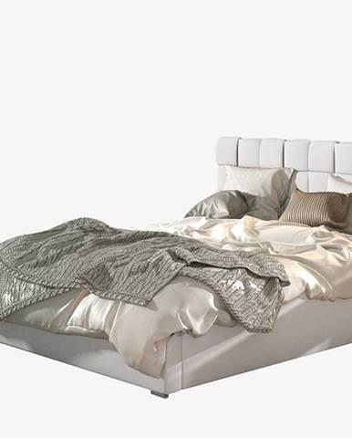 Galimo UP 160 čalúnená manželská posteľ s roštom biela