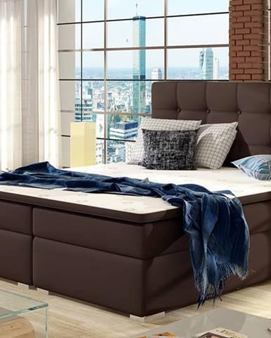 Isola 160 čalúnená manželská posteľ tmavohnedá (Soft 66)