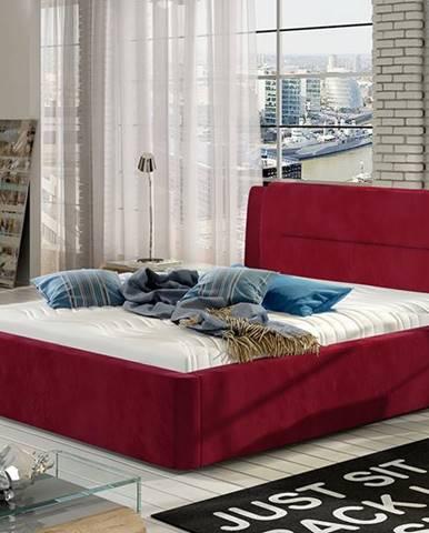 Portima 160 čalúnená manželská posteľ bordová