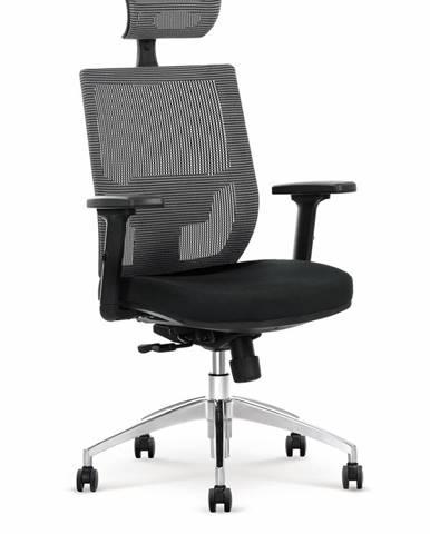 Admiral kancelárska stolička s podrúčkami čierna