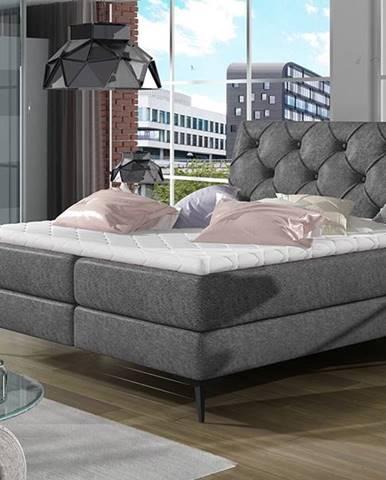 Lazio 160 čalúnená manželská posteľ s úložným priestorom čierna (Dora 96)