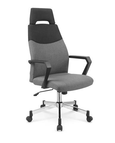Olaf kancelárska stolička s podrúčkami sivá