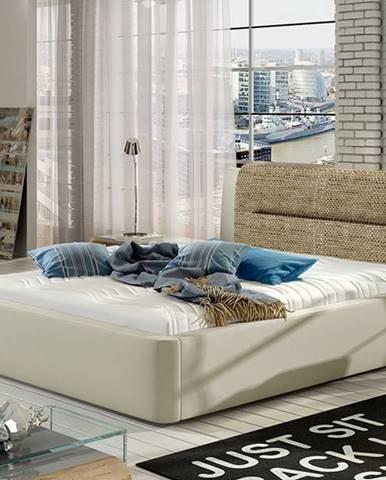 Portima 140 čalúnená manželská posteľ béžová