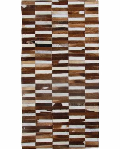 Typ 5 kožený koberec 69x140 cm vzor patchwork