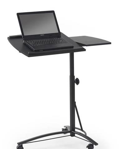B-14 stolík na notebook na kolieskach čierna