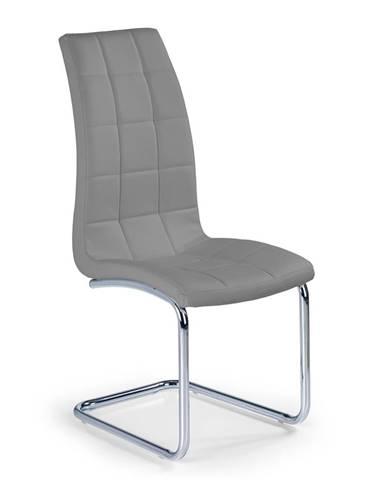 K147 jedálenská stolička sivá