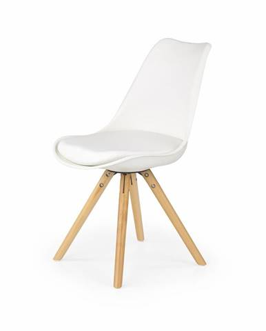 K201 jedálenská stolička biela