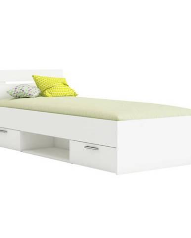 Michigan 90 jednolôžková posteľ s úložným priestorom biela
