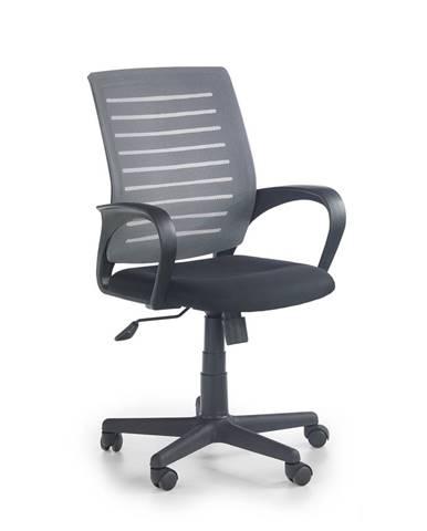 Santana kancelárska stolička s podrúčkami sivá
