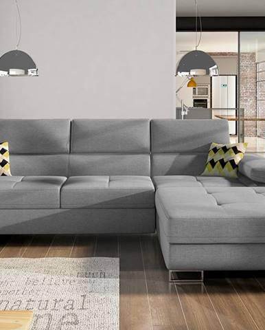 Alkazar P rohová sedačka s rozkladom a úložným priestorom sivá