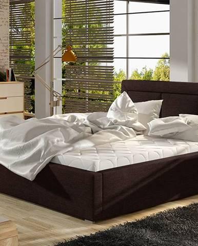 Branco 180 čalúnená manželská posteľ s roštom tmavohnedá (Sawana 26)