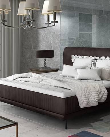 Ancona 140 čalúnená manželská posteľ tmavohnedá