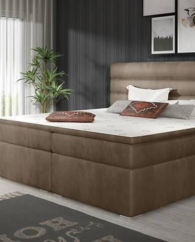 Spezia 140 čalúnená manželská posteľ s úložným priestorom hnedá
