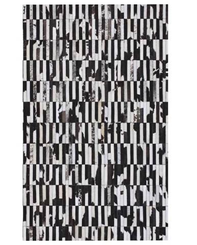 Typ 6 kožený koberec 120x180 cm vzor patchwork