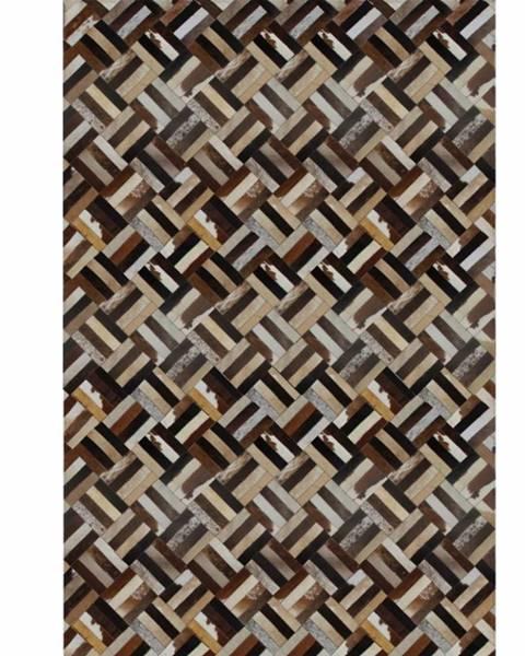 Kondela Typ 2 kožený koberec 120x180 cm vzor patchwork