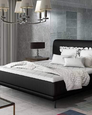 Ancona 180 čalúnená manželská posteľ čierna (Soft 11)