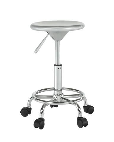 Mabel 3 New stolička na kolieskach strieborná