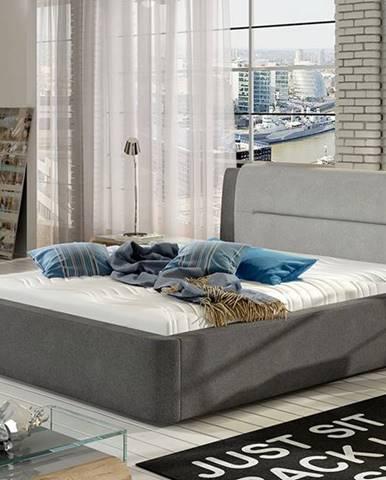 Portima 160 čalúnená manželská posteľ sivá