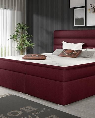 Spezia 160 čalúnená manželská posteľ s úložným priestorom vínová
