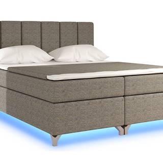 Barino 140 čalúnená manželská posteľ s úložným priestorom sivá (Berlin 01)