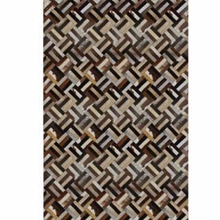 Typ 2 kožený koberec 120x180 cm vzor patchwork