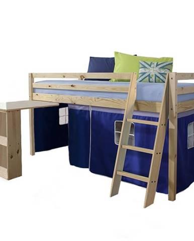 Alzena 90 drevená poschodová posteľ s roštom borovica