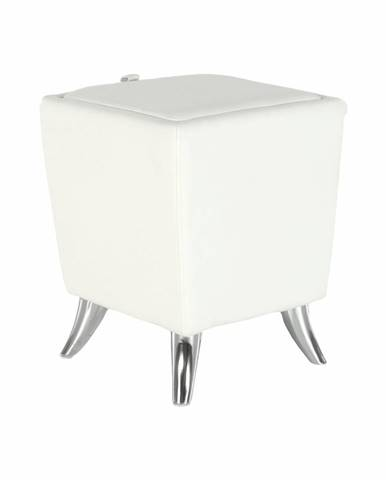 Dars New taburetka s úložným priestorom biela