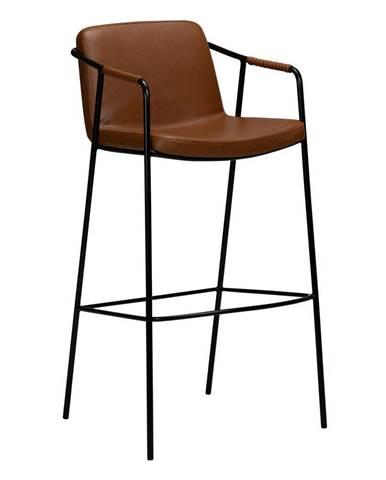 Hnedá barová stolička z imitácie kože DAN-FORM Denmark Boto, výška 105 cm