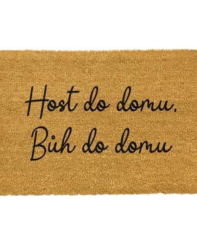 Rohožka z prírodného kokosového vlákna Artsy Doormats Host do domu, 40 x 60 cm