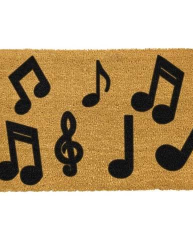 Rohožka z prírodného kokosového vlákna Artsy Doormats Music Notes, 40 x 60 cm