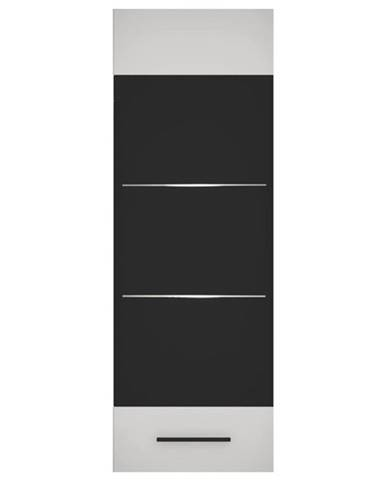 Vitrína BIANCO 4 biela/sklo
