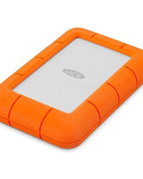 Lacie Externý pevný disk Lacie Rugged Mini 5TB, USB 3.0 oranžový