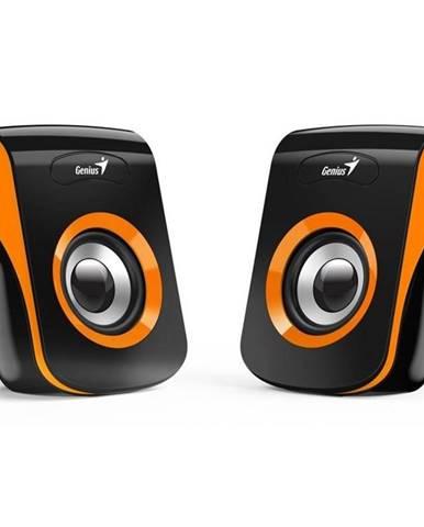 Reproduktory Genius SP-Q180 čierne/oranžové