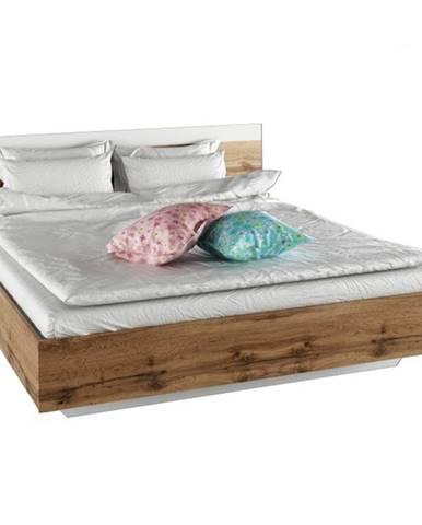 Manželská posteľ 180x200 dub wotan/biela GABRIELA
