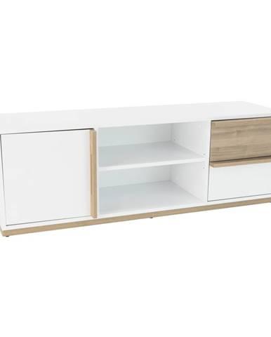 RTV stolík orech select/biela KNOX E4